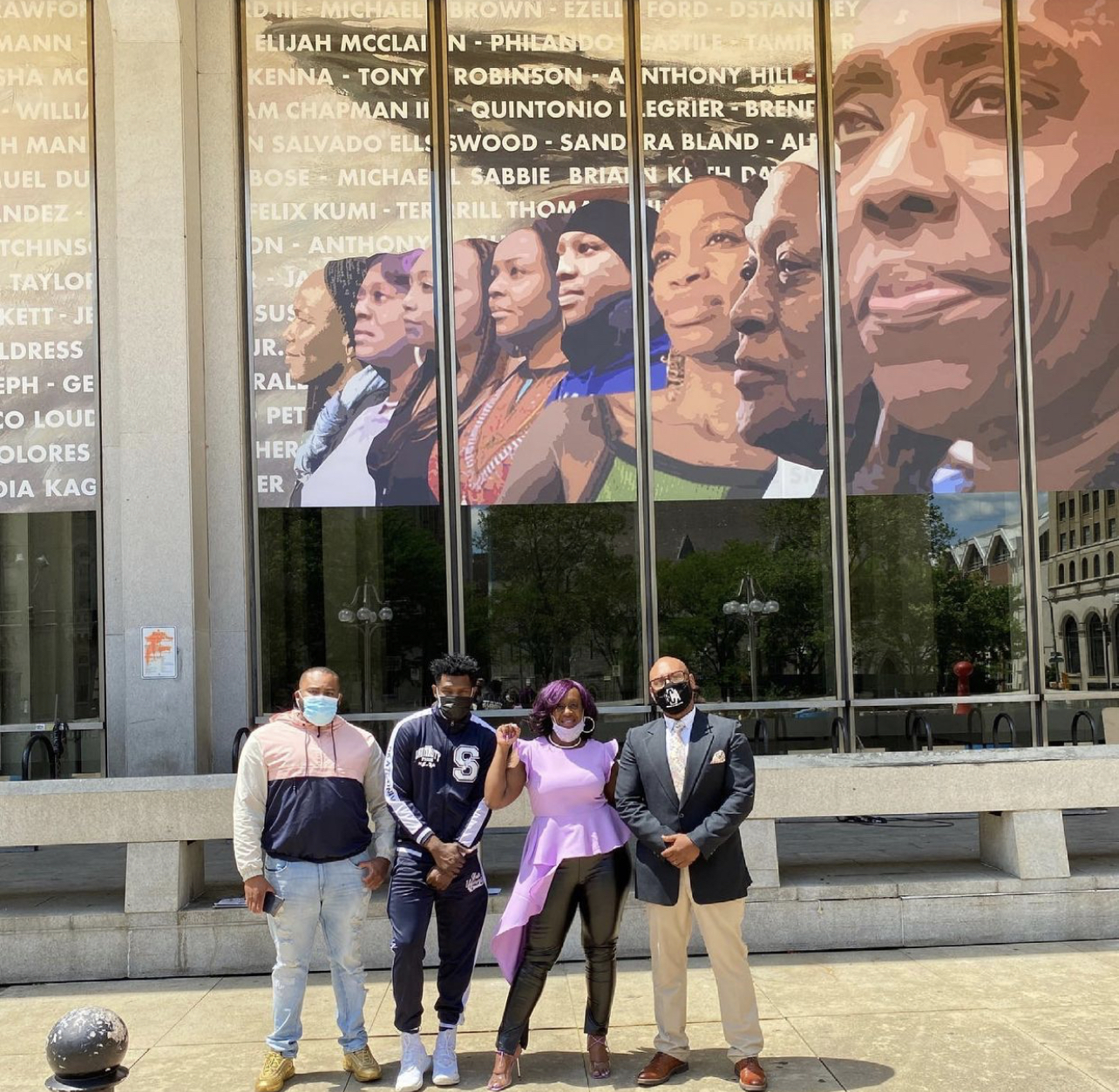 """The Mural Unveiling at the Municipal Services Building across the street from City Hall is called THE CROWN """" NATION MAKERS"""""""
