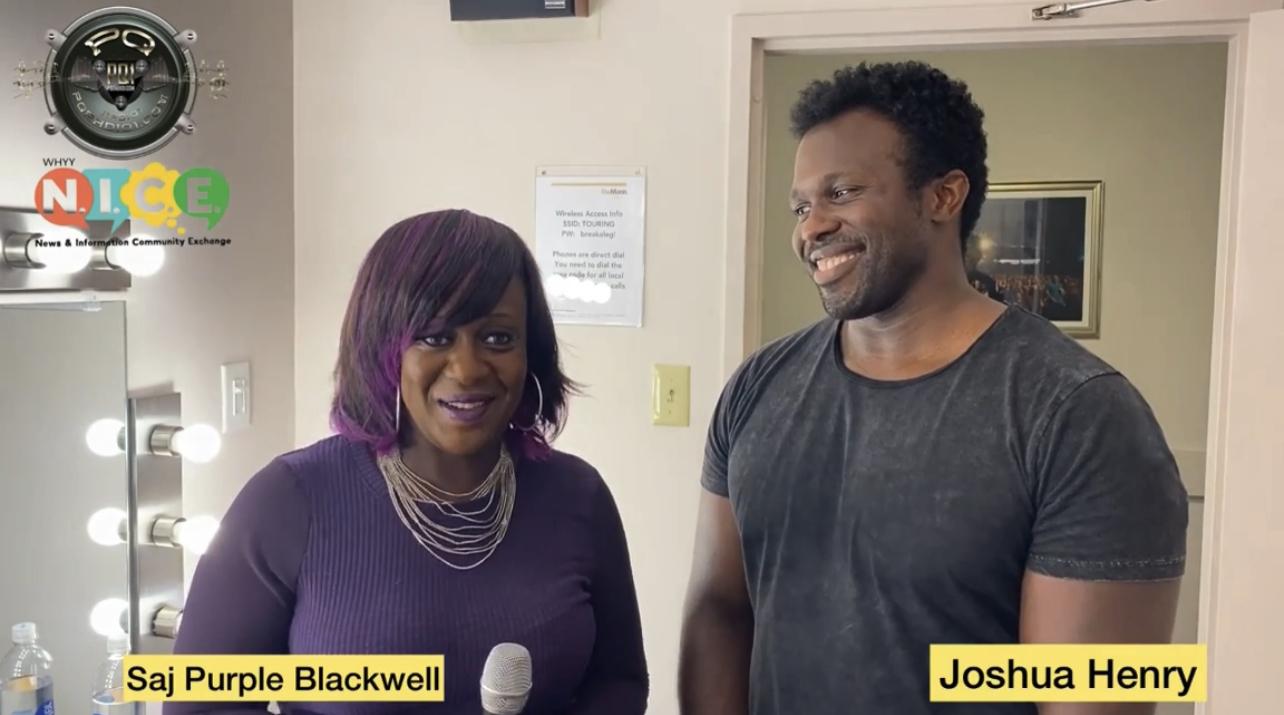 Saj Purple Blackwell Talked With Tony & Grammy Nominated Artist Joshua Henry